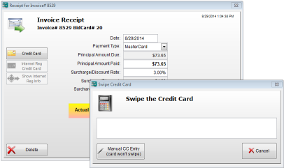 Invoice Receipt Credit Card